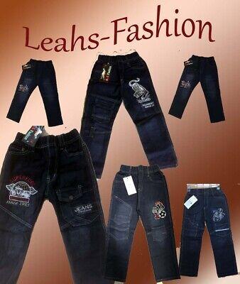 Quality Gr.152 1-4 Jeans NEU COOLE Jungen Hose Gummizug Kinderhosen Paket