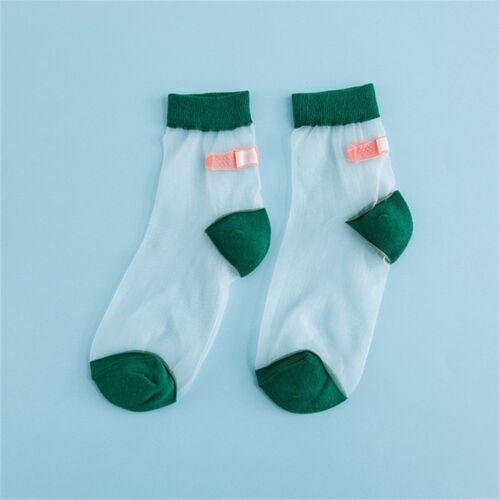 Harajuku OK Aid Silk Short Band Socks Art Lace Summer