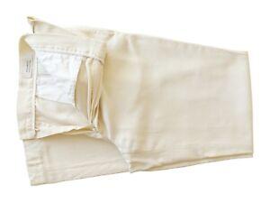 Peserico Alta Costura Italiano Para Hombre Pantalones De Algodon Crema 33 34 Riviera Italiana Ebay