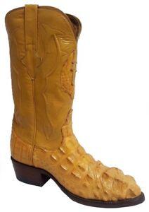 Tail LeatherJ-Toe Boot Original Buttercup Caiman Gator