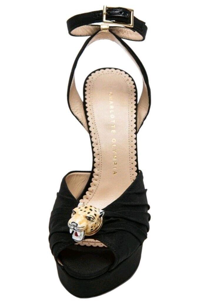 Charlotte Olympia Bruce Enamel Leopard High Heel Platform shoes uk 3.5 eu 36.5