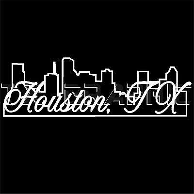 HOUSTON TEXAS SKYLINE DECAL  H-TOWN HOUSTONIAN TEXANS CITY STICKER