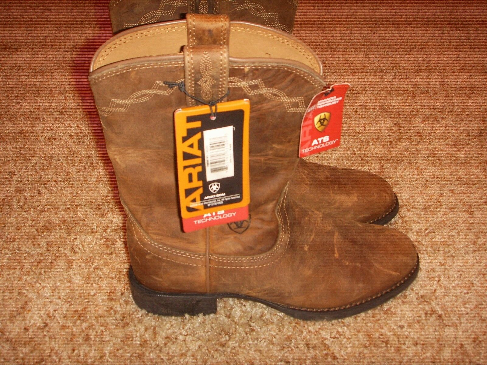 Ariat 10000797 Heritage RoperRToe Western LEATHER Cowgirl Boots Womens Size 6.5M