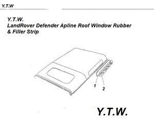 Obligeant Land Rover Defender Alpine Fenêtre Vitrage Joint En Caoutchouc & Filler 4 Mm Dbf500030 & 40-afficher Le Titre D'origine MatéRiaux De Choix