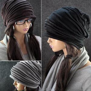 New-Fashion-Winter-Ski-Men-Women-Knit-Baggy-Beanie-Slouchy-Chic-Hat-Cap-Skull
