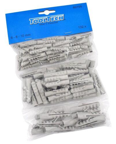 Allzweck Sortiment 6-8 ToolTech Dübel Set 132 Stück Universaldübel 10 mm