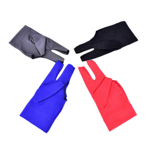 Blue Spandex Snooker Billiard Cue Glove Pool Left Hand Three Finger AccessoZQXI
