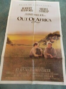 OUT-OF-AFRICA-1985-ROBERT-REDFORD-MERYL-STREEP-ORIGINAL-ONE-SHEET-POSTER-27-034-BY41