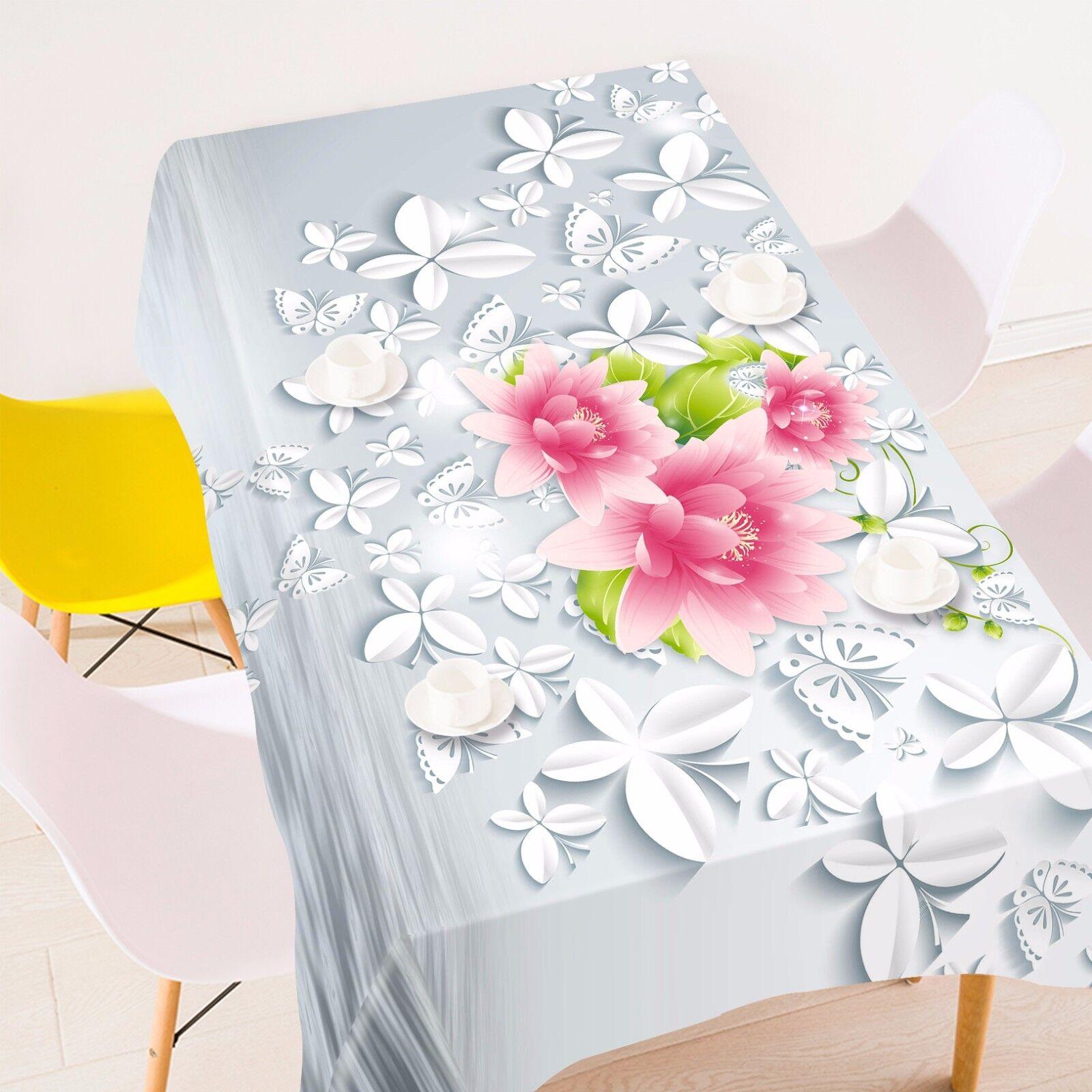 3D Rose Pétale Nappe Table Cover Cloth fête d'anniversaire AJ papier peint Royaume-Uni Citron