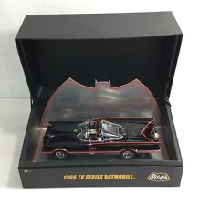 CUSTOM! BATMAN BATMOBILE HOT WHEELS ELITE 1/18 1966 BRAND NEW IN COLLECTOR CASE!