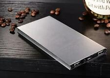 SILVER ULTRA SLIM POCKET EXTERNAL POWER BANK BATTERY CHARGER FOR PHONE USB 12