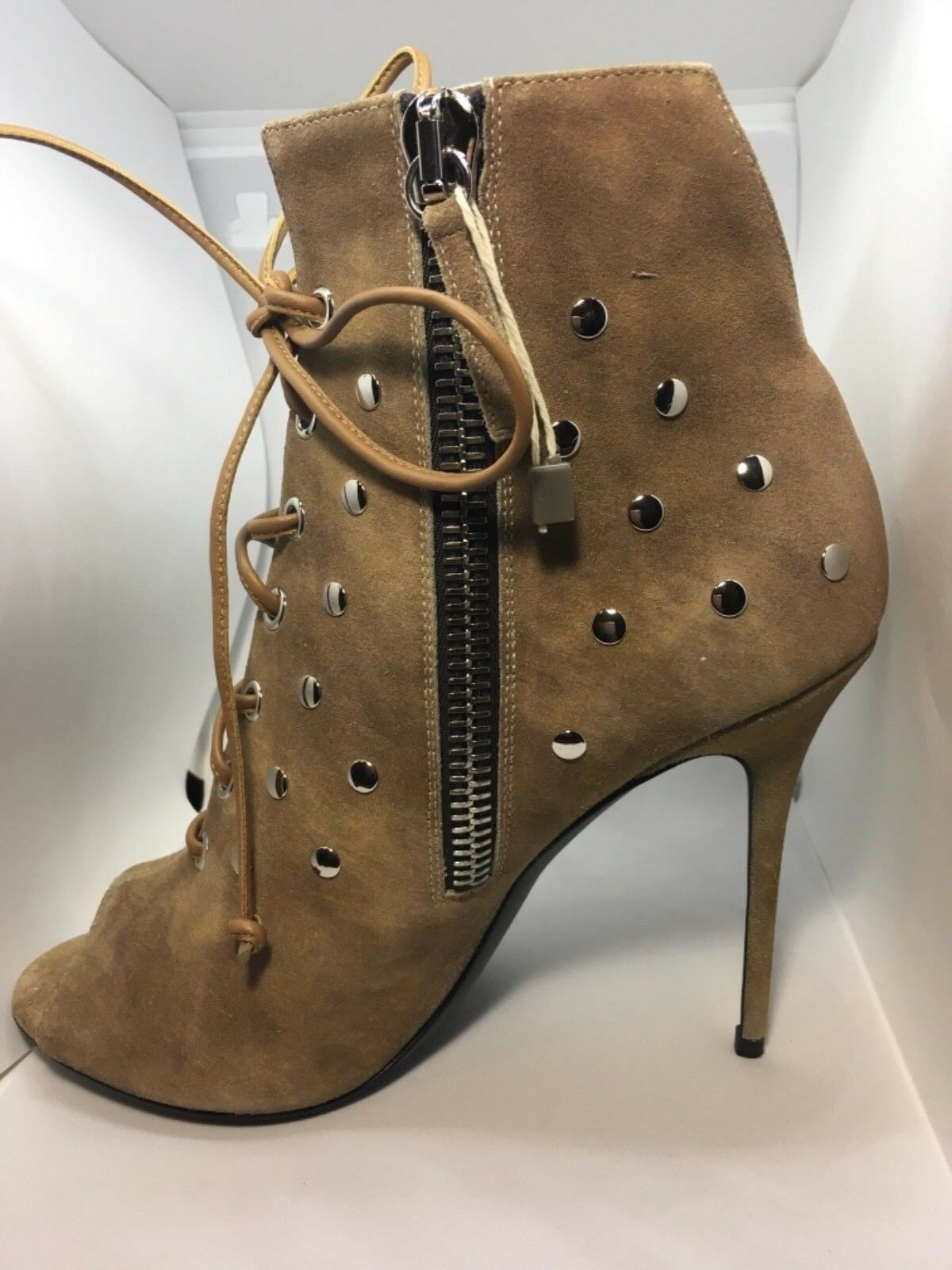 GIUSEPPE ZANOTTI LEATHER ANKLE Stiefel StiefelIES StiefelIES StiefelIES HEELS schuhe Größe 38EU NIB 5c3dc3