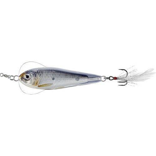 Live Target FSJ50SK202 Flutter Shad Albino//White 3//8oz Spoon Fishing Lure
