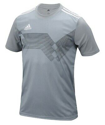 Adidas Youth CAMPEON 19 S/S Tee Shirt Run Gray Training Kid Top Jersey DP3158