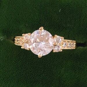 Vintage-Jewellery-Gold-Ring-with-White-Sapphires-Antique-Deco-Jewelry-large-9-S