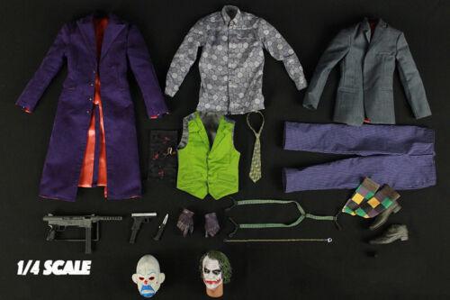 MAX TOYS JK01 1//4 The Joker Clothes Suit Set Head Sculpt Carving Model Accessory