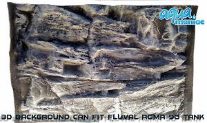 3D-Grey-Rock-Aquarium-Background-Size-58x40cm-Can-Fit-Fluval-Roma-90