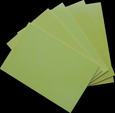 """New. UK stock 1 sheet of 3mm 12/"""" x 8/""""  G10 Epoxy Glassfibre plate FR4"""