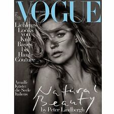Vogue Magazine Deutsch Germany May 2017 Kate Moss by Peter Lindbergh NEW
