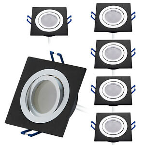 LED Slim Panel 3W eckig 2700K 4200K 6400K Aluminium Einbaustrahler Einbauleuchte