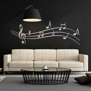Wandtattoo-Noten-Musik-Notenlinie-Aufkleber-Wall-Art-Wand-Tattoo-2071