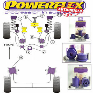 Powerflex-Frente-Wishbone-Eje-Trasero-amp-Brazo-Bush-Kit-Para-VW-Golf-Mk4-2wd-6-arbustos