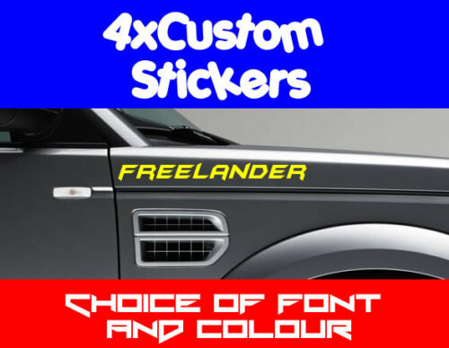 Text Colours 4x Land Rover Freelander Custom Stickers Choice of Fonts