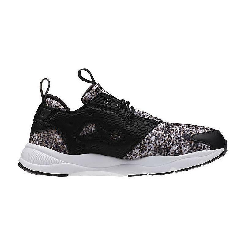 Reebok Women's FuryLite Winter shoes NEW AUTHENTIC Black White Brown V70754
