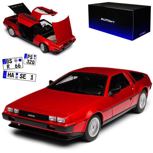 Delorean DMC-12 Rot Metallic 1981 79918 1//18 AutoArt Modell Auto mit oder ohne i