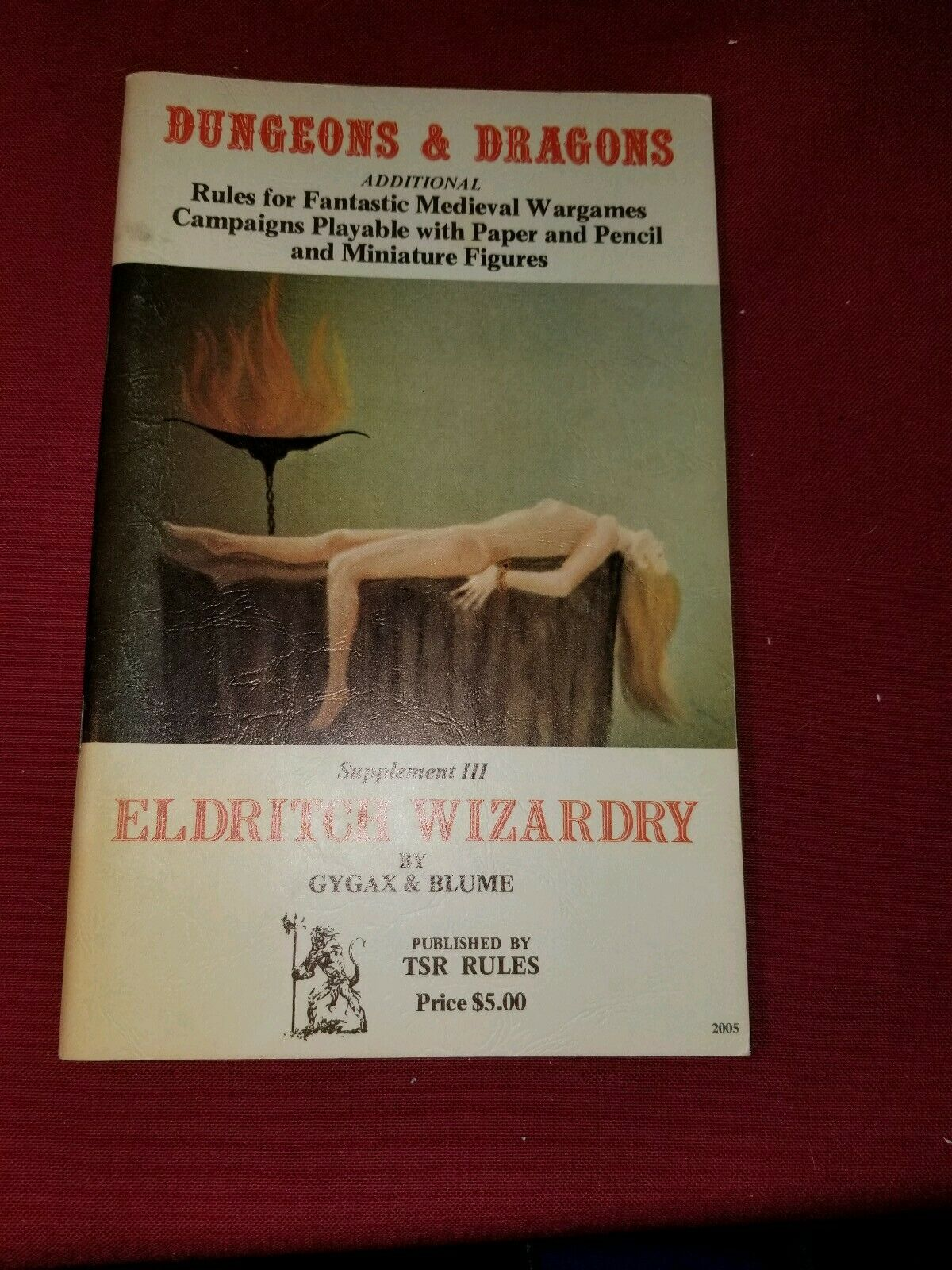 TSR Dungeons and dragons Supplement Eldritch Wizardry (4th Printing) VG