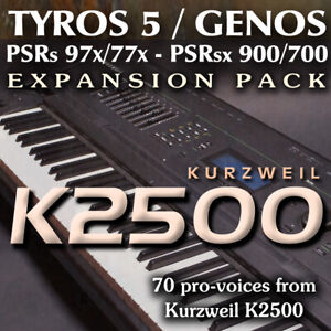 Details about Kurzweil K2500 - Expansion Pack for Yamaha Genos, Tyros 5,  PSR 97x, sx900 etc