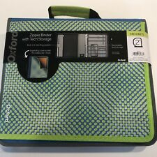 Oxford Zipper Binder Withexpandable Pocket Snap Binders 540 Sheets 2 Ring Tech
