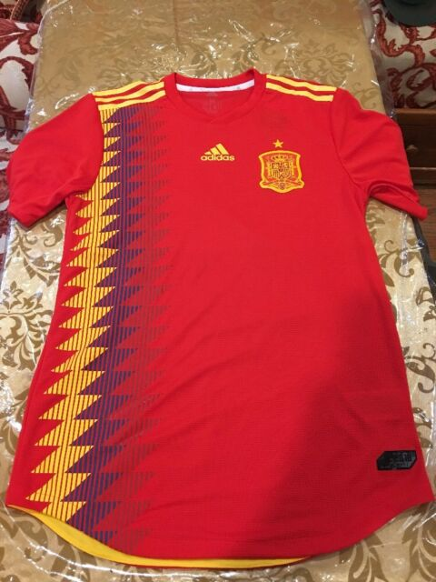 f4fe9930d Brand New Adidas 2018 World Cup Spain Home Authentic Jersey BR2724 Size (L)   130