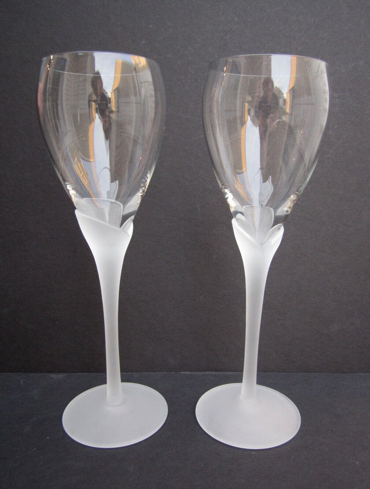 2 ROSENTHAL CALICE givré tige chopes de vin Lunettes 8-7 8  H. X 2-3 4  D. excellent état utilisé