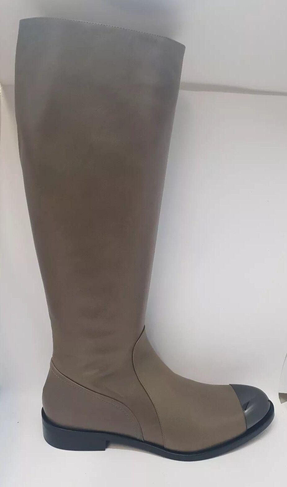 elementi di novità Madeleine Stivali da donna donna donna lungo GAMBALE STIVALI PELLE GRIGIO uk8 tg. 42 neu&ovp  marca