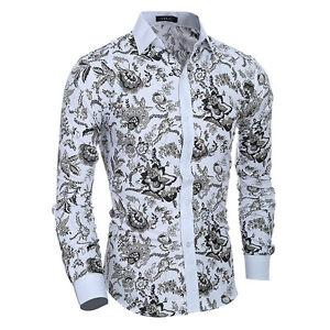 Stylish-Mens-Luxury-Casual-Formal-Shirt-Long-Sleeve-Slim-Fit-White-Dress-Shirts