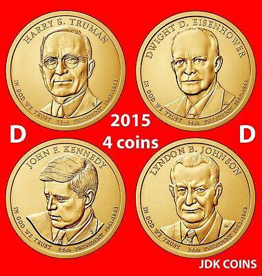 TRUMAN PRESIDENTIAL $25 DOLLAR ROLL UNCIRCULATED Head//Tail~ 2015 D MINT HARRY S