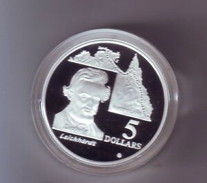 1994-5-SILVER-Proof-out-Masterpieces-Set-Ludwig-Leichhardt-Explorer
