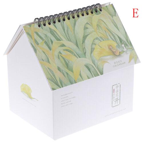 Creative Folding House Desk Calendar Van Gogh Calendars Desktop Storage Box FB