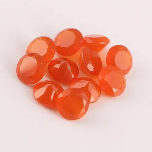 Details about  /AMAZING Lot of Finest Natural Carnelian 8x8 mm Round Faceted Cut Loose Gemstone