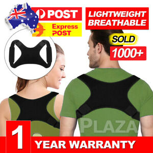 Posture-Corrector-Women-Men-Shoulder-Brace-Back-Support-Strap-Belt-Adjustable-AU