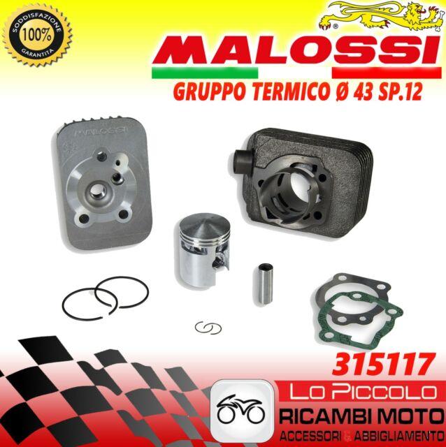 MALOSSI 315117 Groupe Thermique Modification Ø43 65cc Fiche 12 Pour Piaggio Ciao