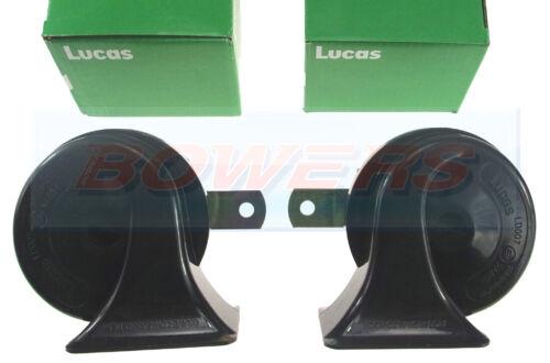 Paire de Lucas 12 V High and Low Remarque Tone Shell trumpet horns Classique Voiture LD007