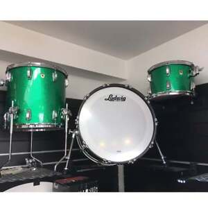 Ludwig-Classic-Maple-USA-Drum-Kit-13-16-22-Green-Sparkle