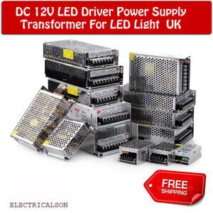 DC12V for LED Strip Light LED Power Supply Transformer IP20 AC 230V UK Lighting