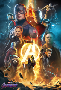 "Avengers EndGame Poster 24x36/""//60x90cm 2019 Marvel Comics Movie Art Print"