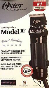 OSTER-MODEL-10-HEAVY-DUTY-DETACHABLE-BLADE-CLIPPER-000-amp-FREE-1-BLADE