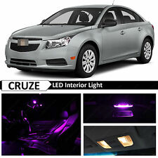 12x Fuchsia Purple LED Lights Interior Package Kit for 2011-2015 Chevy Cruze
