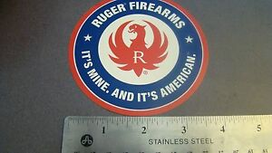 """Ruger Arms Makers """"For Responsible Citizens 3"""" Blue Firearms  Decal Sticker"""