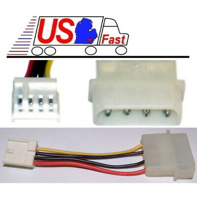 "8/""4pin Molex Male~Dual FD//Floppy Type Drive Power Supply Y//T Splitter Cable//Cord"